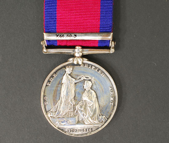 Military General Service Medal, with Chrysler's Farm Bar, named to H. Guilbeault, Canada Militia. Obverse Military General Service Medal, with Chrysler's Farm Bar, named to H. Guilbeault, Canada Militia. Obverse View
