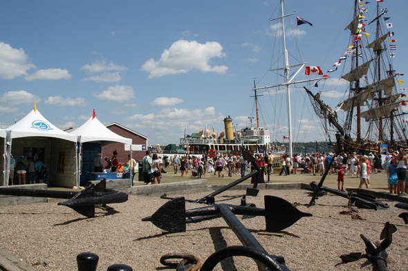 1812 On Tour tents at the Tall Ships Festival on the waterfront in Halifax, Nova Scotia