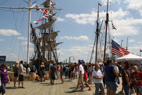 Tall ships on the waterfront in Halifax