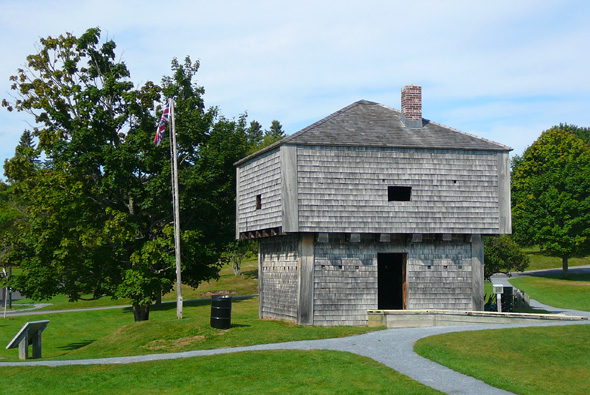St. Andrews Blockhouse National Historic Site in St. Andrews, New Brunswick, wooden building