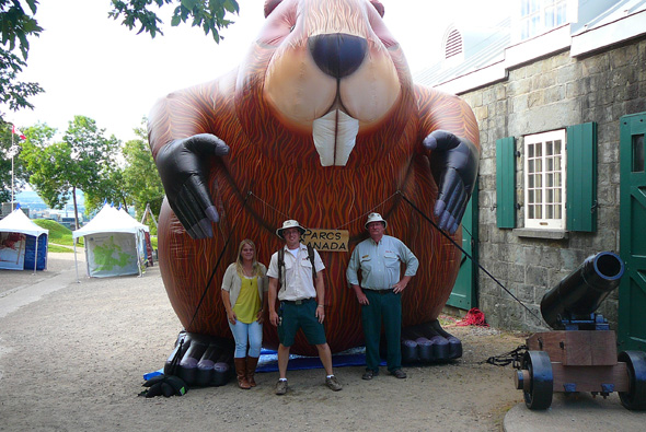 Parka, our large inflatable beaver, at Artillery Park