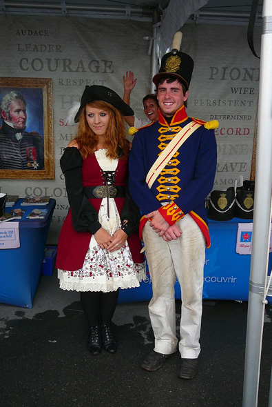 1812 On Tour staff dressed in period costume