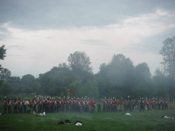 1812 On Tour was at the re-enactment of the Battle of Cryslers farm in Morrisburg, Ontario, 2013