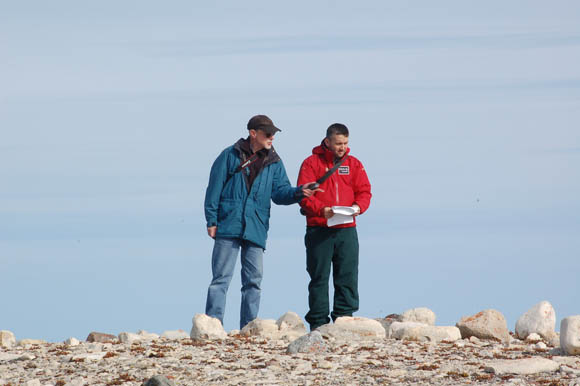Doug Stenton and Jonathan Moore at the Cape Felix site.