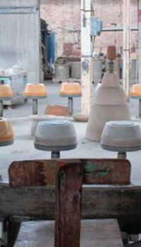 Working pottery