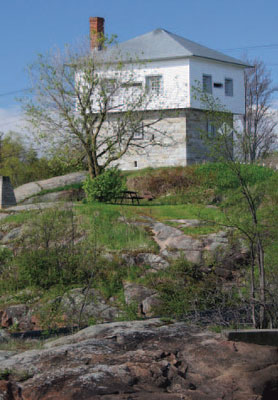 The blockhouse at Kingston Mills