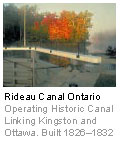 Rideau Canal Ontario - Operating Historic Canal Linking Kingston and Ottawa. Built 1826-1832