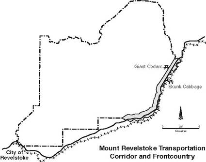 Mount Revelstoke transportation corridor and frontcountry landscape management unit
