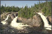 Photo de la rivière Cascade dans le parc national Pukaskwa