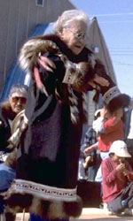 Image of Inuit woman dancing