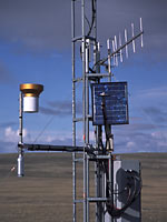 Weather station in Aulavik National Park