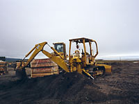 Removal of contaminated soil from Komakuk Beach