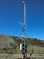 Weather station at Sheep Creek.