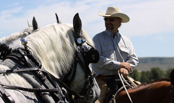 Bar U Ranch site manager Ken Pigeon