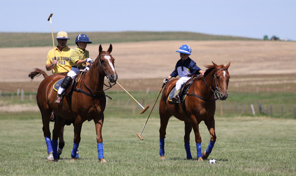 Kids learning to play the 'sport of kings' at Polo Day