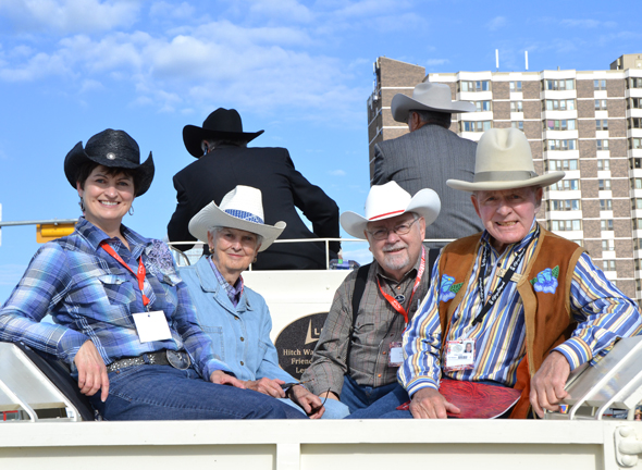 Family members of the 'Big Four' - George Lane, Patrick Burns, A.E. Cross and Archie McLean - who founded the Calgary Stampede