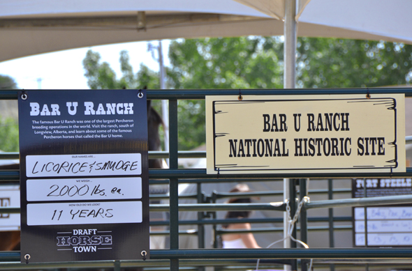 The famous Bar U Ranch National Historic Site