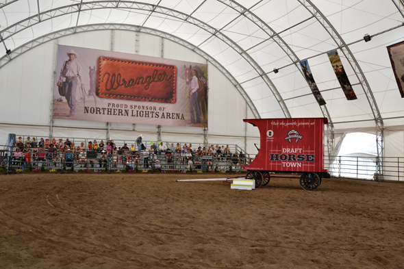 The Northern Lights Arena at Draft Horse Town