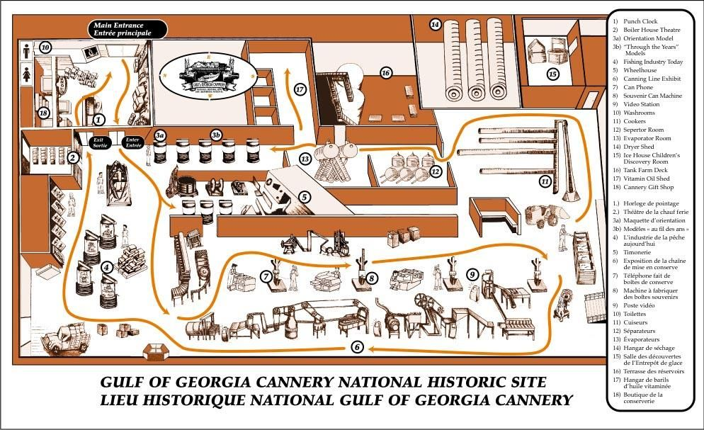 Site Map of Gulf of Georgia Cannery National Historic Site