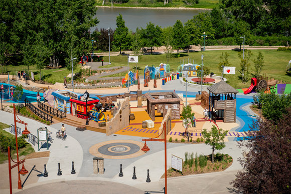 A bird's eye view of the Variety Heritage Adventure Park