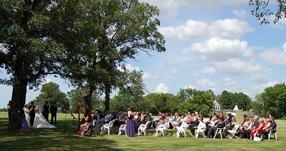 Wedding in oak grove