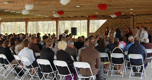 Wedding in Picnic Shelter