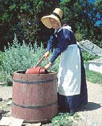 Female gardener in period costume