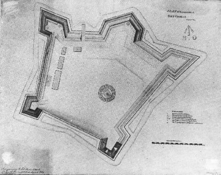 British modifications to Fort George in 1814
