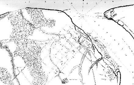 Close-up from Gray Map of Fort George (Plan of Niagara)
