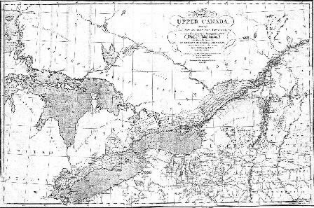 Simcoe Map of Upper Canada 1803