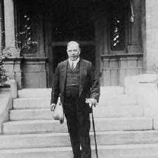 W.L.M. King on front steps of Laurier House 1935