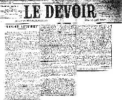 Newspaper article from le devoir aurons-nous la conscription?