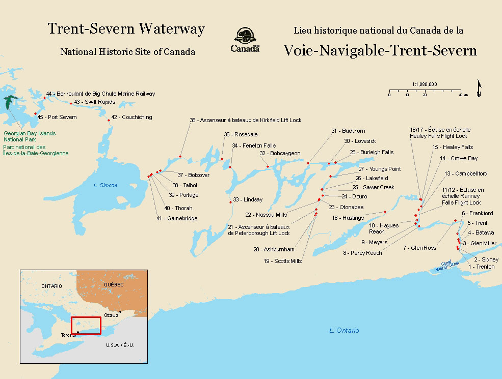 Trent-Severn Waterway map