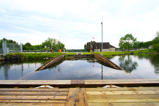 A boater's perspective - taking a ride on the Big Chute Marine Railway.