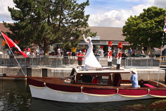 The Queen herself paid a visit to Fenelon Falls, complete with a life size double to wave when she needed a rest.