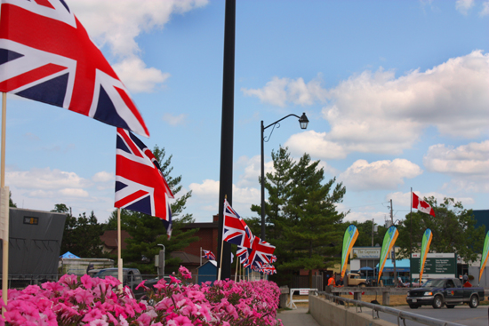 Driving through Fenelon Falls motorists were greeted by UK flags and knew they arrived at Lock 34 when they saw the Parks Canada flags.