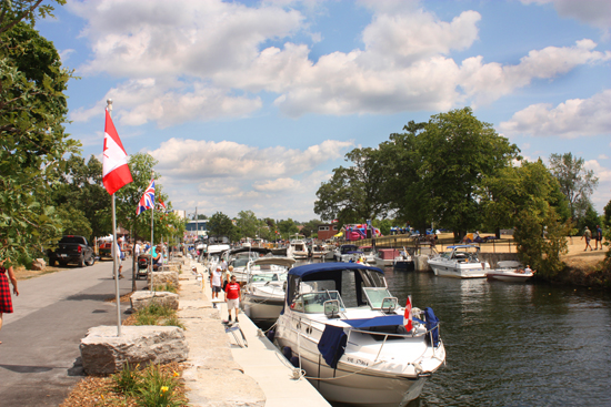 Many boats attended Queen Elizabeth's Diamond Jubilee festivities in Fenelon Falls to enjoy the new mooring space.