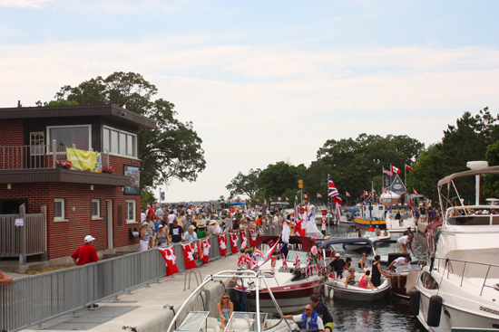 It was a very busy day for lock staff in Fenelon Falls on July 21st. Many enjoyed free lockage through locks 32 to 35.