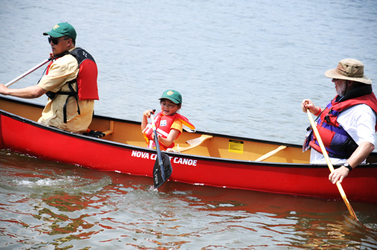 The Canadian Canoe Museum gave a safety lesson prior to the canoe launch.