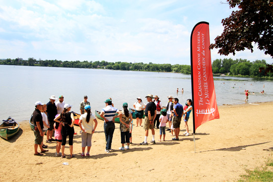 The campers hit the water with the Canadian Canoe Museum to learn about canoeing.