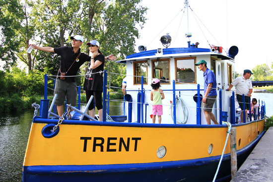 The families enjoyed touring the Tug Trent during the Learn to Camp event.