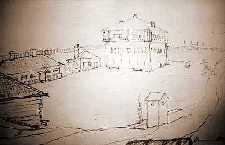 1830's artist rendition of Fort Wellington.