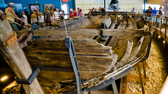 Without doubt, the favourite addition to the visitor centre offering is an incredible gallery – with views to the river – that showcases the remains of an 1812 era British gunboat.