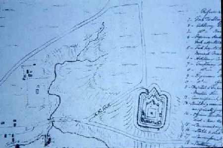 Early plans for the first Fort Wellington.