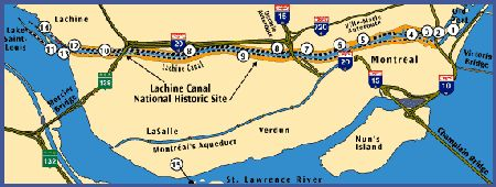 map of the Lachine Canal