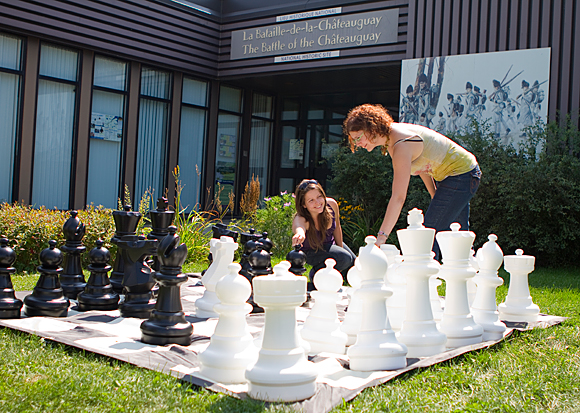 Outdoor giant chess game