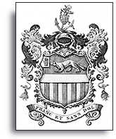 Drawing of Cartier's coat of arms