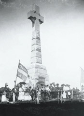 Inauguration ceremony for the Celtic Cross, August 15, 1909