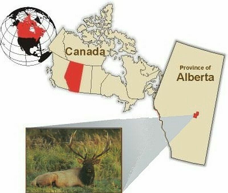 Diagram indicating location of Elk Island National Park in Canada