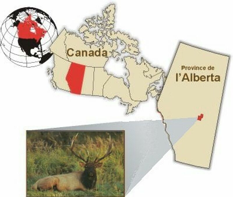 Le diagramme indique l'emplacement du parc national Elk Island au Canada